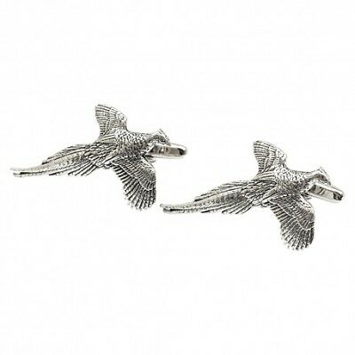 Pewter Flying Pheasants Cufflinks