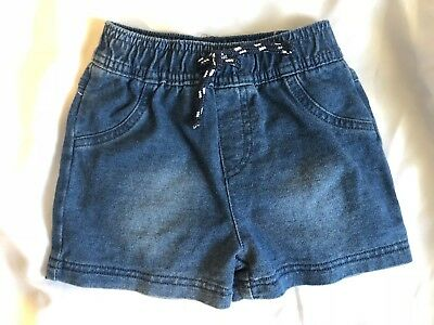 Baby Boys Tiny Little Wonders Denim Style Shorts Size 0  for 6 - 12 Months