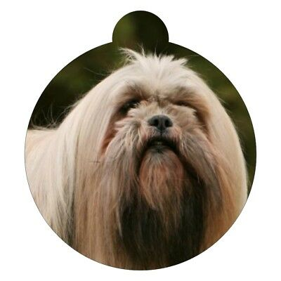 Lhasa Apso Dog Breed Picture Pet ID tag