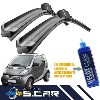 KIT 2 SPAZZOLE TERGICRISTALLO SMART FORTWO fino 07 ANTERIORI BOTTARI mis. 530mm