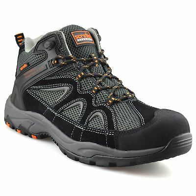 Mens Scruffs Soar Leather Safety Steel Toe Cap Work Ankle Hiker Boots Shoes Size