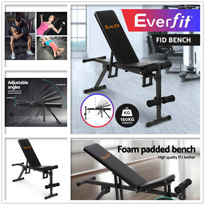 Adjustable Multi-Station Weight Bench Fitness Gym Lifting Home Squat Press 150kg