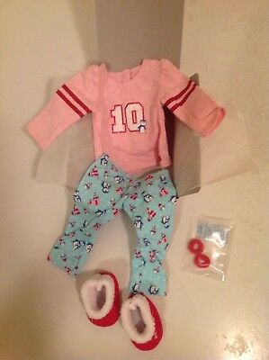 "American Girl TRULY ME HOLIDAY PENGUIN PAJAMAS for 18"" Dolls Clothes Pj's NEW"