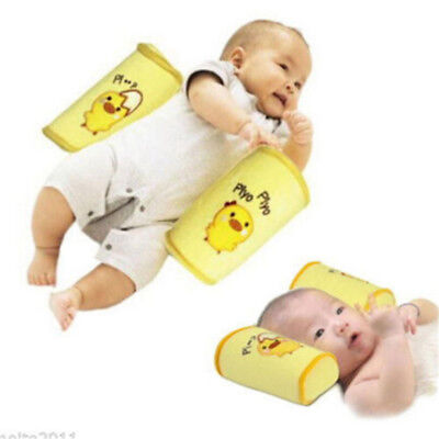 Adjustable Baby Crib Anti Roll Pillow Sleep Flat Head Position Soft Support Pad