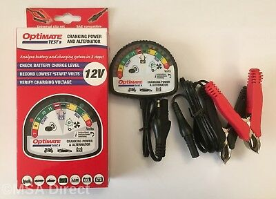 Optimate Test - 12 Volt Battery and Alternator System Tester (TS120)
