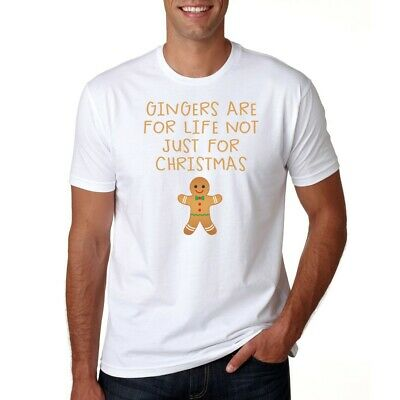 Gingers Are For Life - T-Shirt Gift - Mens/Womens Funny Tee Xmas Gingerbread Man