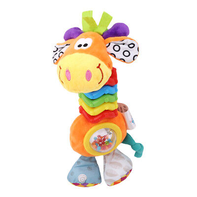 Baby Newborn Giraffe Soft Plush Rattle Toy Developmental Infant Toddler Z