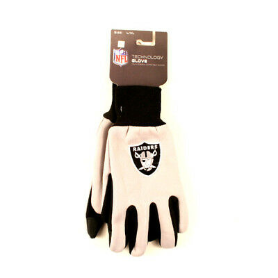 NEW Los Angeles Raiders  Texting Technology Gloves NFL Touchscreen Compatible