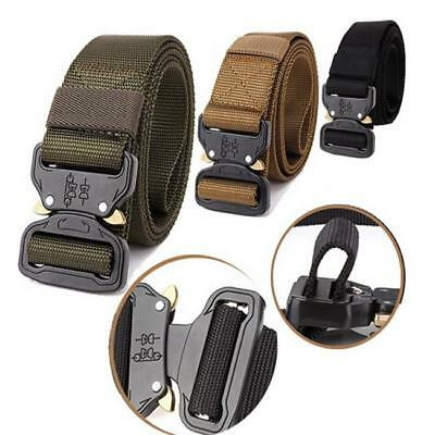Heavy Duty Tactical Soldier Mens Military Belt Web Combat Army Training Belt Z