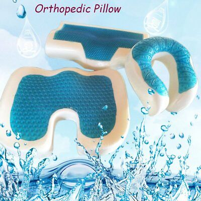 Memory Foam Cooling Gel Pillow Orthopaedic Firm Head Neck Back Support O3