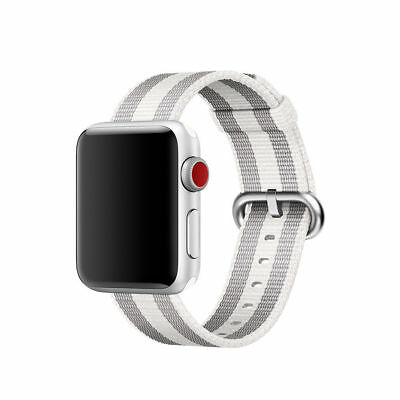 New  Genuine Apple  38mm Pearl Stripe Woven Nylon Watch Band Authentic