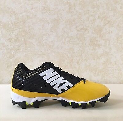 786f3026b Men Nike Vapor Shark Football Cleats Black Varsity Maize-Volt 643162-007