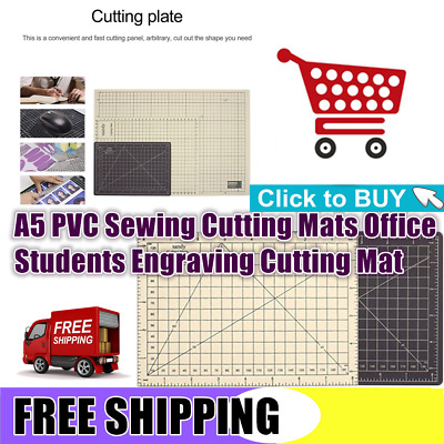 Double Color A5 PVC Sewing Cutting Mats Office Students Engraving Cutting Mat KK