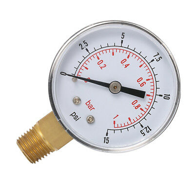 Mini Pressure Gauge For Fuel Air Oil Or Water 0-200/0-30/0-60/0-15 PSI UO