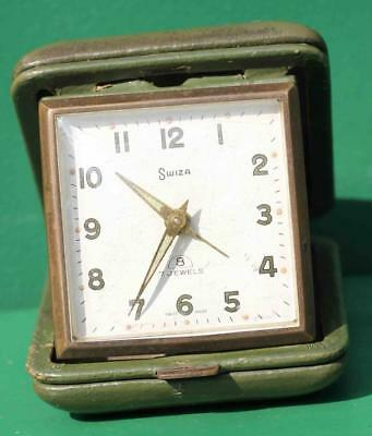 Swiza Vintage 56 Hour Travelling Alarm Clock Green
