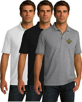 New Orleans Saints Golf Polo Shirt - up to 6X Embroidered