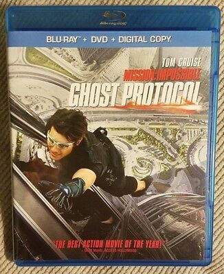 Mission: Impossible - Ghost Protocol (Blu-ray+DVD) Tom Cruise - Action Spy Movie