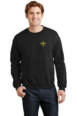 New Orleans Saints Crew Sweat Shirts  Embroidered
