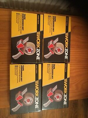 WORKZONE  Tape Dispenser with 2 rolls of tape Job Lot Of 5 Box's