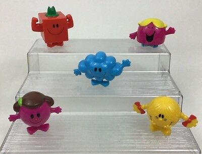 "Mr Men Little Miss Arbys Lot 5pc Figures Chatterbox Strong Daydream Quick 3"" Toy"