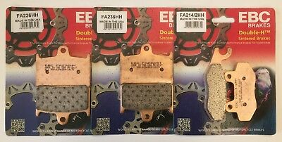 Triumph Tiger Explorer 1200 (2012 to 2015) EBC FRONT and REAR Disc Brake Pads