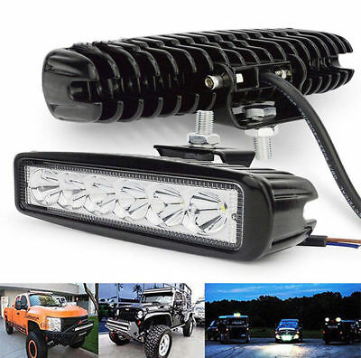 18W 800LM Bright Light Spot 6LED Work Bar Driving Fog Offroad Car Lamp For Truck
