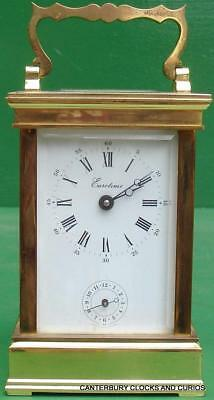 L'epee Anglius 8 Day Vintage French Timepiece Alarm Carriage Clock