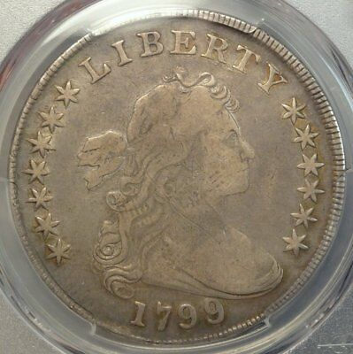 1799/8 Draped Bust Dollar, PCGS Certified Overdate Variety