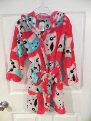 NEW Cuddl Duds Girls SIZE 4-5 Hooded UNICORN Robe Turquoise PLUSH FLEECE #385618