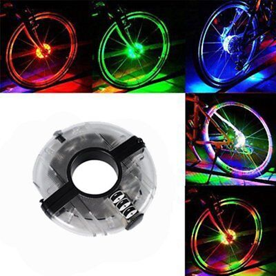 Flashing Bicycle Bike Cycling Wheel Hub LED Light Lamp Outdoor Accessories G6