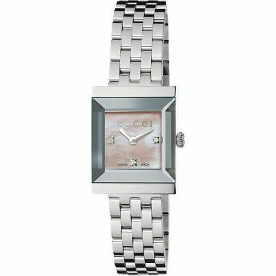 be817b928e8 GUCCI G FRAME Mother Of Pearl Stainless Steel Women s Watch YA128401 ...