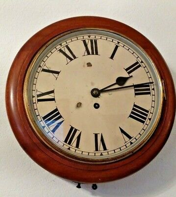 "Antique Chain Fusee Gallery Wall Clock 12"" Dial Keeping Good Time"