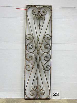Antique Egyptian Architectural Wrought Iron Panel Grate (E-23)