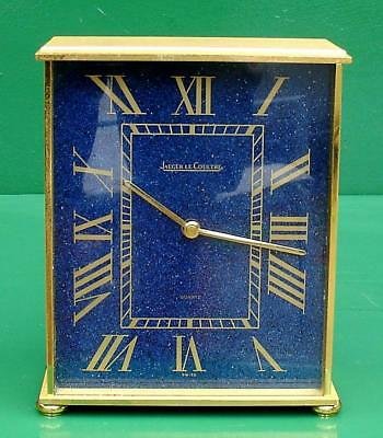 Jaeger Le Coultre Geneve Blue Faced With Origian Box And Paperwork Mantel Clock