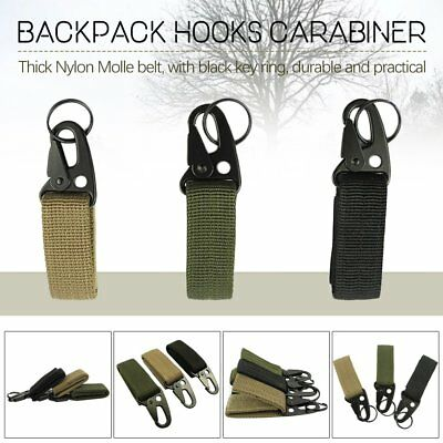 Tactical Nylon Key Hook Webbing Molle Buckle Hanging Belt Carabiner Clip 1