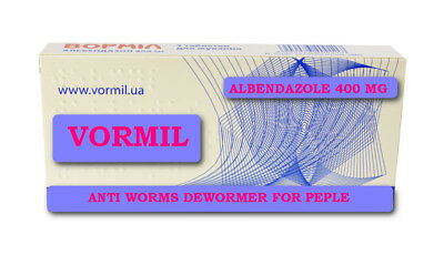 Anti Worms Dewormer for People Vormil Human no-Prescription Albendazole 400 mg