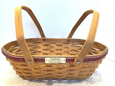 LONGABERGER 2006 Christmas Collection Nature's Garland Basket with Handles