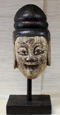 Vintage (circa 19 century) Nuo Opera Handcrafted Wooden Mask,Southwest China