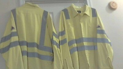 Bulwark Flame-resistant Hi-Visibility Pre-Owned Safety Work Shirt (3XL-LN )