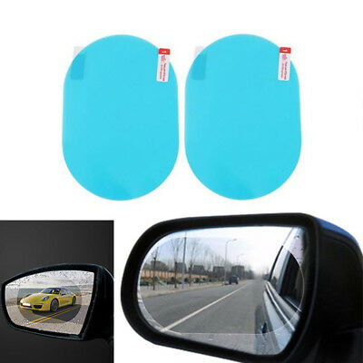 2Pcs Oval Car Auto Anti-Fog Rainproof Rearview Mirror Protective Film Accessory