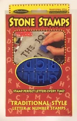 Milestones New Concrete Stepping Stone Stamp Set (Letters & Numbers) Traditional