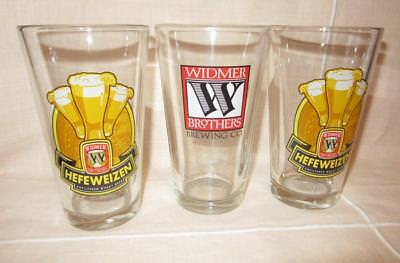 ~3~ Vintage WIDMER BROTHERS GLASSES Hefeweizen Pint Glass BEER ALE