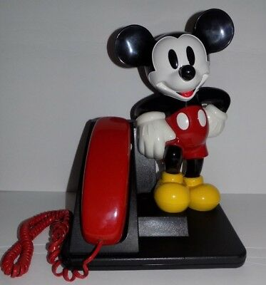Walt DISNEY AT&T MICKEY MOUSE TELEPHONE Push Button Phone Tested