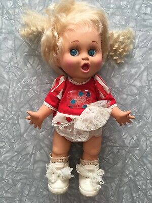 1990 Baby Face Doll Galoob LGTI #2 So Surprised Suzy diaper shoes vintage 90's