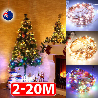 20-200 LED Copper Wire String Fairy Xmas Party Lights USB Battery Powered Lights