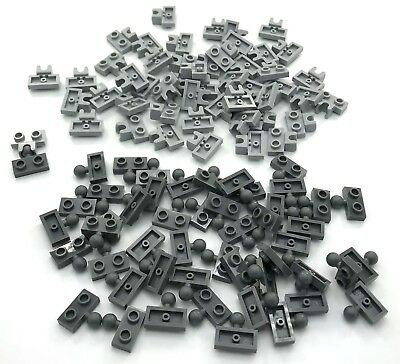 Gray Plate Modified 1x2 Towball /& Socket Lot Long SW 2508 14704 LEGO NEW Black