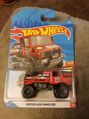 MERCEDES-BENZ UNIMOG 1300 #7 Hot Trucks US Card 2019 Hot Wheels