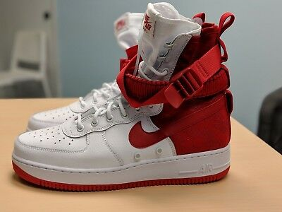NIKE SF-AF1 High Air Force 1 University Red White AR1955-100 10.5 Special Forces