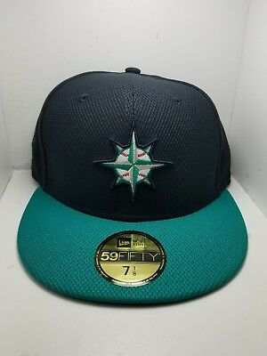 sale retailer 9aa62 8d94d ... where can i buy new era seattle mariners navy aqua game diamond 59fifty  fitted hat mlb
