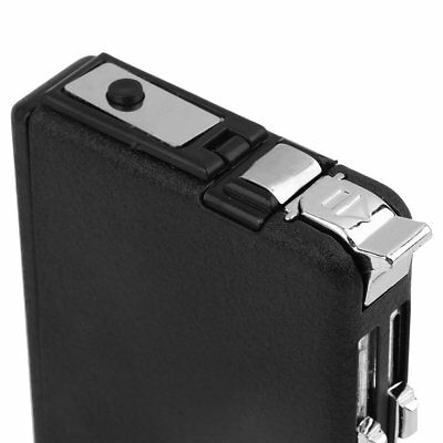 Cigarette Case & Lighter Automatic Ejection Butane Windproof Metal Box Holder AA